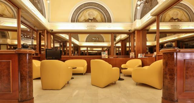 Relax with something to drink in the elegant Lounge Bar of Hotel